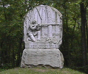 13th NJ Monument at Gettysburg, PA